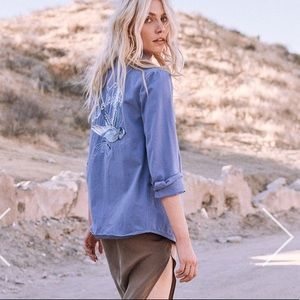 Spell & The Gypsy Blue Belle Chambray Jacket